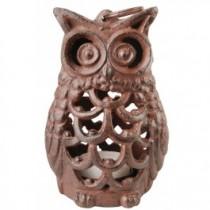 Owl Shaped Cast Iron Votive Holder