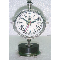 "Paper Weight Clock On Marble Stand (L),  7"" X 4"" X 3"""