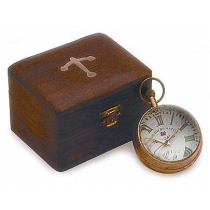 "Paper Weight Clock With Shisham Wood Box, 2"" X 2"" X 2.5"""