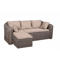 PE Rattan Brown Right And Left Long Sofa