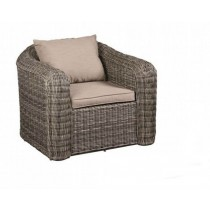 PE Rattan Brown Single Arm Sofa