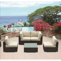 PE Rattan Classic Outdoor Corner Sofa Set