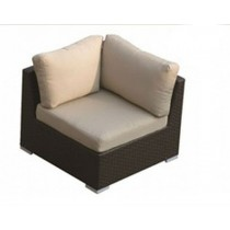 PE Rattan Dark Brown Corner Sofa