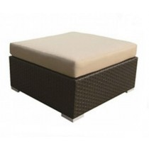 PE Rattan Dark Brown Foot Cushion