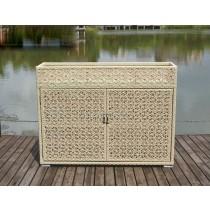 PE Rattan Designer Storage Cabinet
