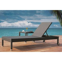 PE Rattan Lounger With Side Table(Full Set)