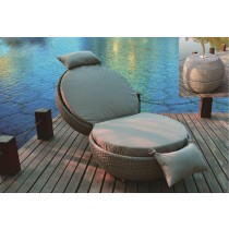 PE Rattan Modern Apple Lounger
