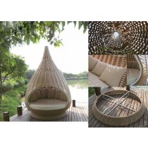 PE Rattan Nest Lounger With Ropes