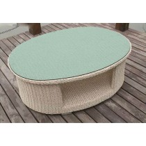 PE Rattan Oval Shape Coffee Table