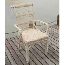 PE Rattan Round Wicker Arm Chair