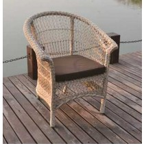 PE Rattan Round Wicker Arm Chair(Size 70 X  70 X 83 CM)