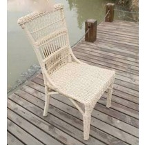 PE Rattan Round Wicker Armless Chair
