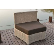 PE Rattan Round Wicker Mid Armless Chair