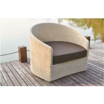 PE Rattan Round Wicker Single Armchair