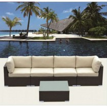 PE Rattan Simple Outdoor Corner Sofa Set