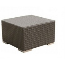 PE Rattan Small table With Glass