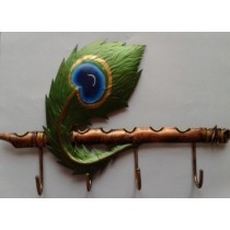 Peacock Feather Keyholder