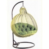 Pear Shape Olive Green Garden Rattan Swing