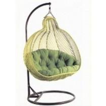 Pear Shape Olive Green Garden Rattan Swing