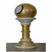 Pedestal Marble Clock