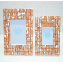 Photo Frame Sq . (coloured mother of Pearl) 4 X 4""