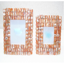 Photo Frame Sq. (coloured mother of Pearl)