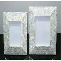 Photo Frame w/ tapered ends (mother of Pearl), Size 3 X 3 Inches