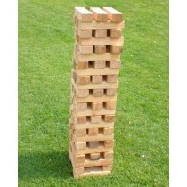 Pine Wood Tumble Tower 57 Blocks