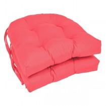 Pink 16 Inch U Shaped Cushion With Ties