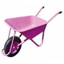 Pink Color Wheel Barrow