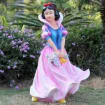 Pink Disney Land Queen Sculpture