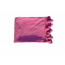 Pink Fringes Border Throw