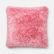 Pink Handmade Polyester Square Cushion