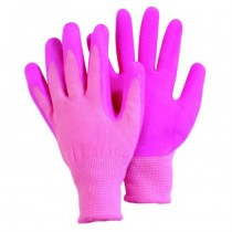 Pink Polyamide Gloves