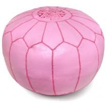 Pink Round Floor Pouf