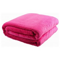 Pink Soft Coral Fleece Twin Size Throw