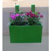 Plain Green Railing 10 Inch Square Planter