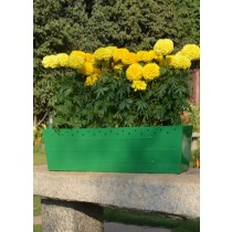 Rectangle Galvanized Metal Railing Planter