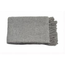 Plain Grey Throw