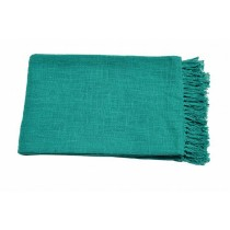 Plain Turquoise Throw