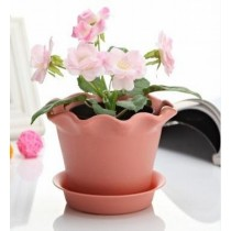 Lotus Shaped Plastic Pot