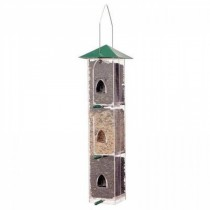 Plastic With Metal Hanging Bird Feeder