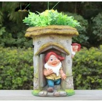 Playing Garden Gnome Decorative Planter