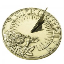 Polished Brass Bird Design Garden Sundial