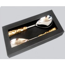 Polished Serving Set of 2 Pcs In Window Box
