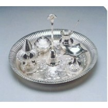 Pooja Plate Set Of 7 Pcs