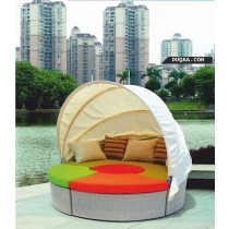 Pool Side Lounger Bed With Cushion & Pillow