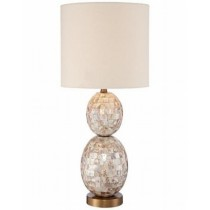 Punched Mother of Pearl Table Lamp