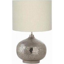 Punched Nickel Plated Table Lamp