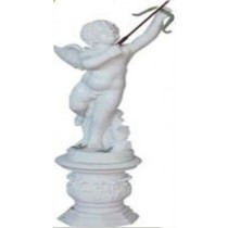 Pure White marble angel with bow and arrow